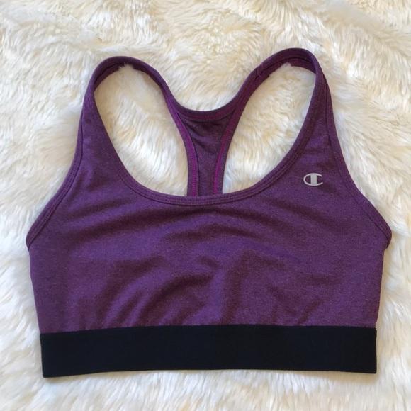 d82d5d7799 Champion Other - Heathered purple   black champion sports bra M